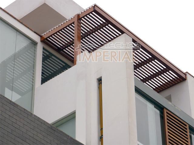Pin techos para terrazas madera techo com portal - Techo de madera ...