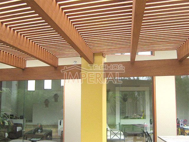 Techos de madera techos de terrazas techos para terrazas for Techos de metal para terrazas